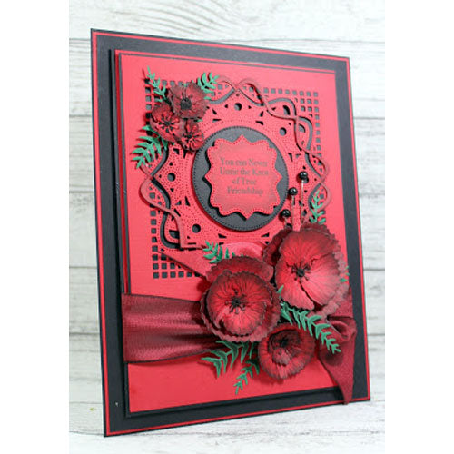 John Next Door Clear Stamp - Blousy Poppy - JND054