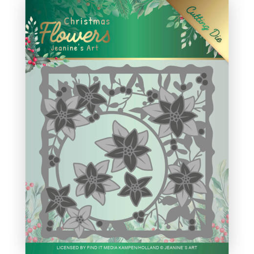 Jeanine's Art - Christmas Flowers Cutting Die - Poinsettia Frame