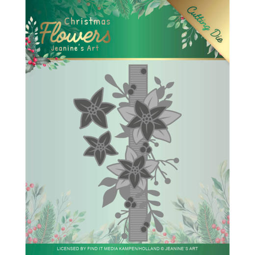 Jeanine's Art - Christmas Flowers Cutting Die - Poinsettia Border