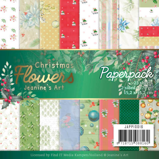 Jeanine's Art - Christmas Flowers - Paper Pack