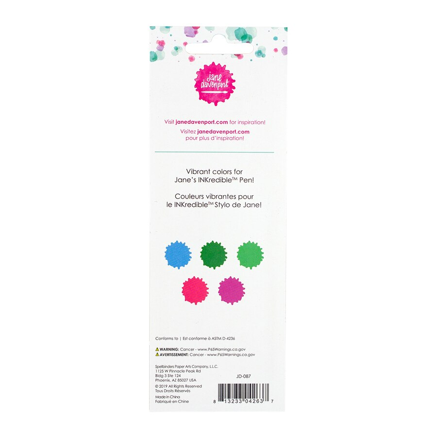 Jane Davenport - Spellbinders - ArtEssentials - Ink Cartridges - Brights - JD-087