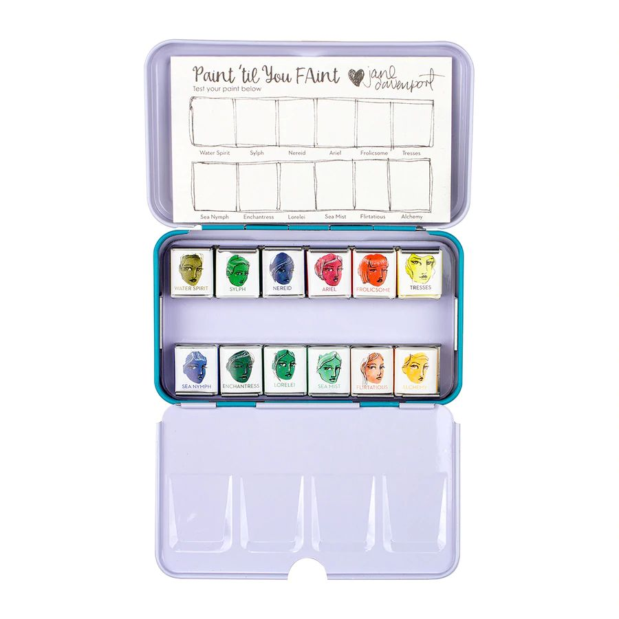 Jane Davenport - Spellbinders - ArtEssentials - Watercolours Set Glitz-Sea - JD-091