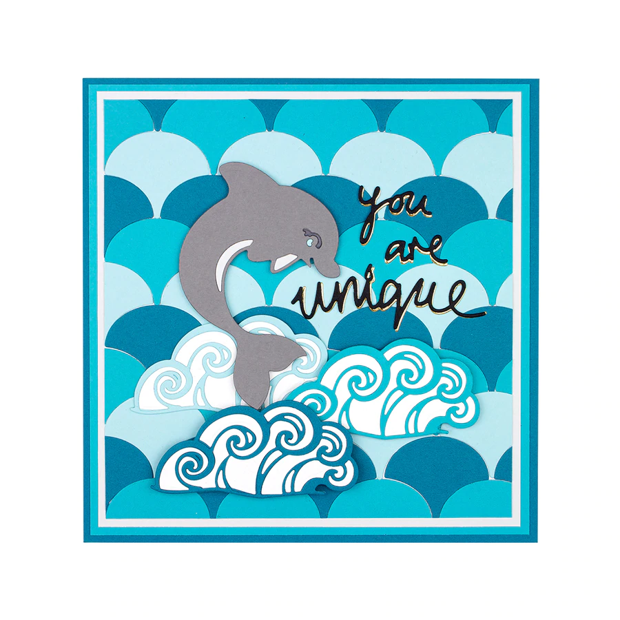 Jane Davenport Die by Spellbinders - Marvelous Mermaids  - Happy Little Dolphin - JDD-008