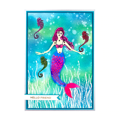 Jane Davenport Stamp & Die Set by Spellbinders - Marvelous Mermaids - Mermaid Paper Doll - JDDS-012