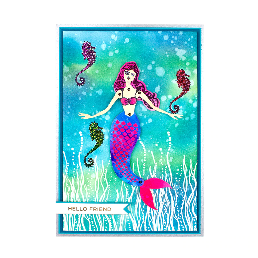 Jane Davenport Stamp Set by Spellbinders - Marvelous Mermaids - Sea Kelp - JDS-022