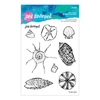 Jane Davenport Stamp Set by Spellbinders - Marvelous Mermaids - She Sells Seashells - JDS-046