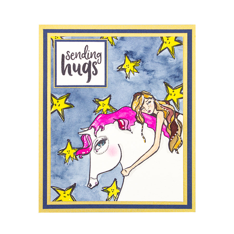 Jane Davenport Spellbinders Stamps - Whimsical and Wild Collection - Horse Hug - JDS-050