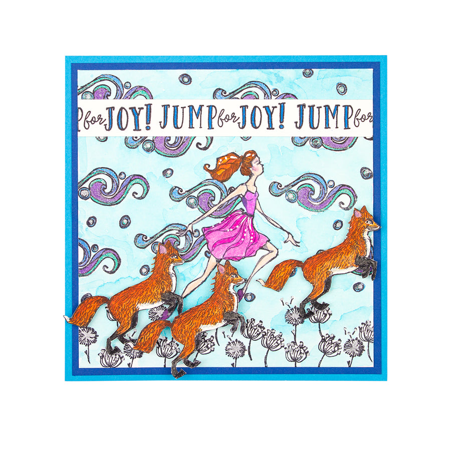 Jane Davenport Spellbinders Stamps - Whimsical and Wild Collection - Fairytale Fox - JDS-052