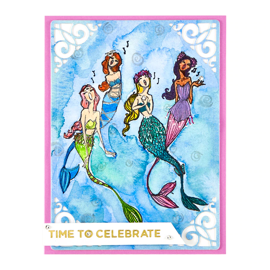 Jane Davenport Spellbinders Stamps - Stamp Camp Collection - Singing Mermaids - JDS-056