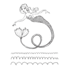Jane Davenport Spellbinders Stamps - Stamp Camp Collection - Glorious Mermaid - JDS-057