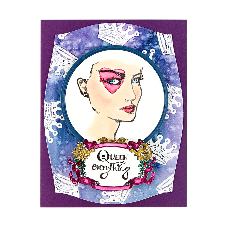 Jane Davenport Spellbinders Stamps - Stamp Camp Collection - Queen of Everything - JDS-059