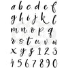 Woodware Clear Singles - Brush Script Lowercase  - JGB009