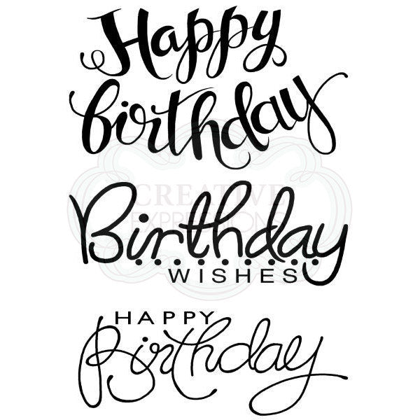 Woodware Clear Singles - Big Birthday Words - JGS630