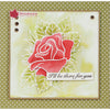 Woodware Clear Singles - Rose Bloom - JGS686