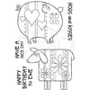 Woodware Clear Singles - Ewe and Piggy - JGS696