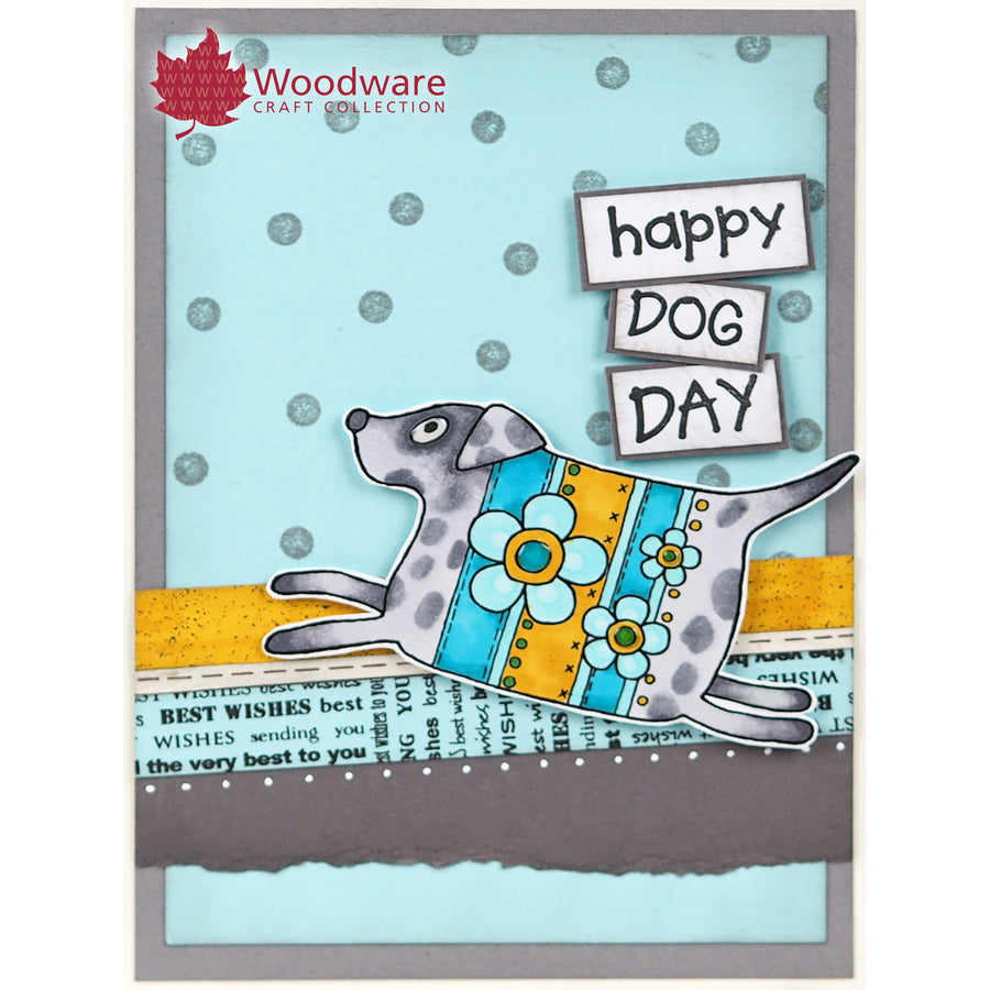 Woodware Clear Singles - Pup and Mog - JGS697