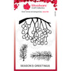 Woodware Clear Singles - Festive Hanging Berries - JGS733