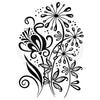 Woodware Clear Singles Curly Petals - JGS764