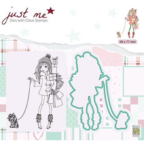 Nellie Snellen - Just Me Stamp & Dies - Christmas Shopping