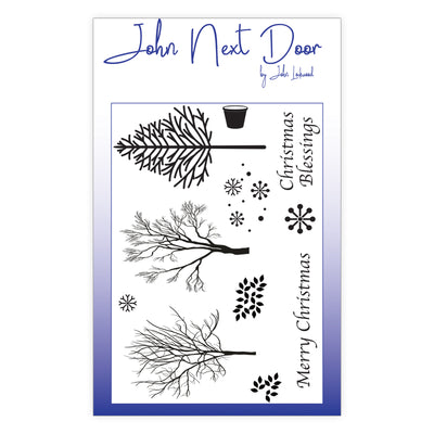 John Next Door Clear Stamp - Winter Trees