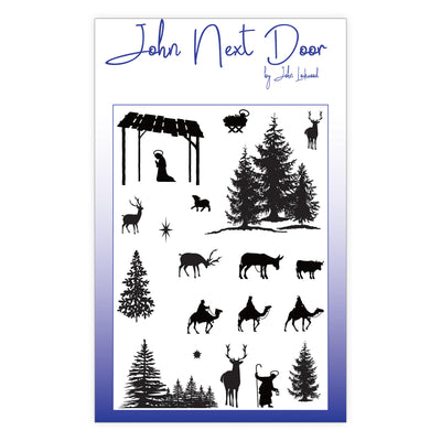John Next Door Clear Stamp - Festive Silhouettes - JND0012