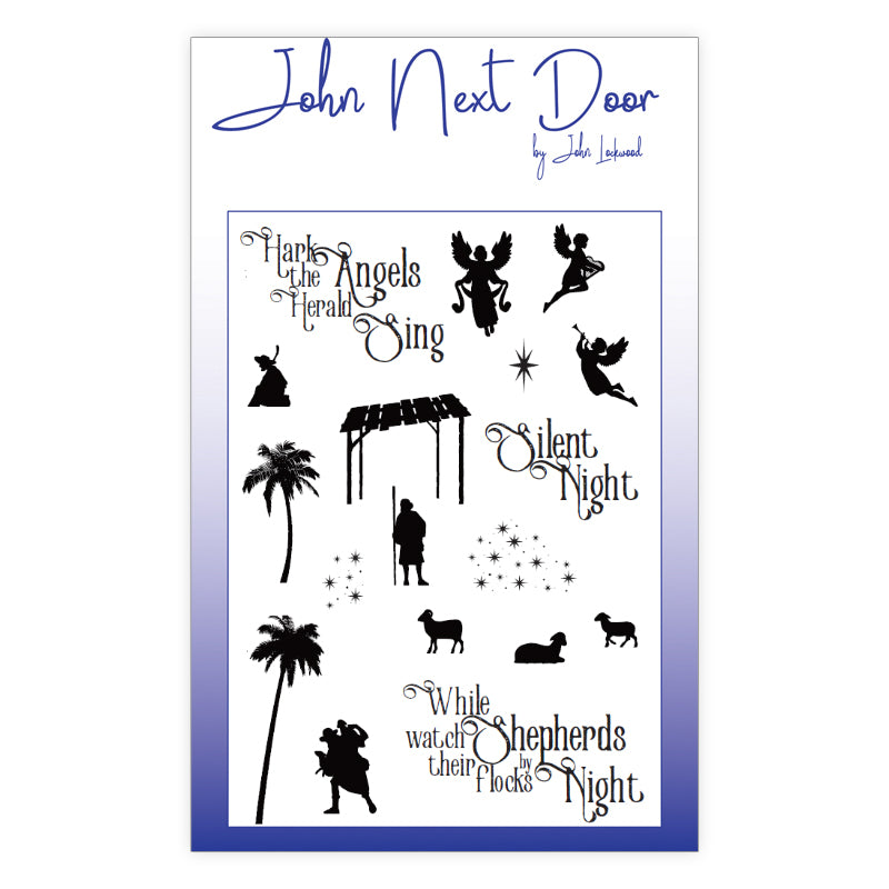 John Next Door Clear Stamp - While Shepherds - JND0022