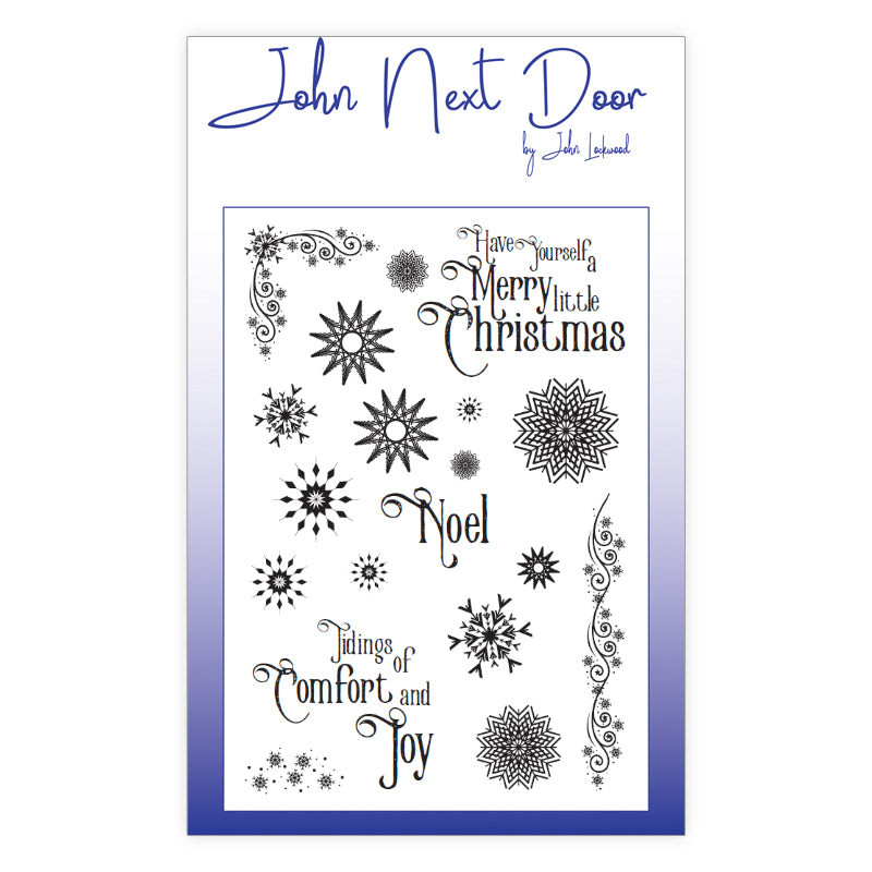 John Next Door Clear Stamp - Snowflakes - JND0023