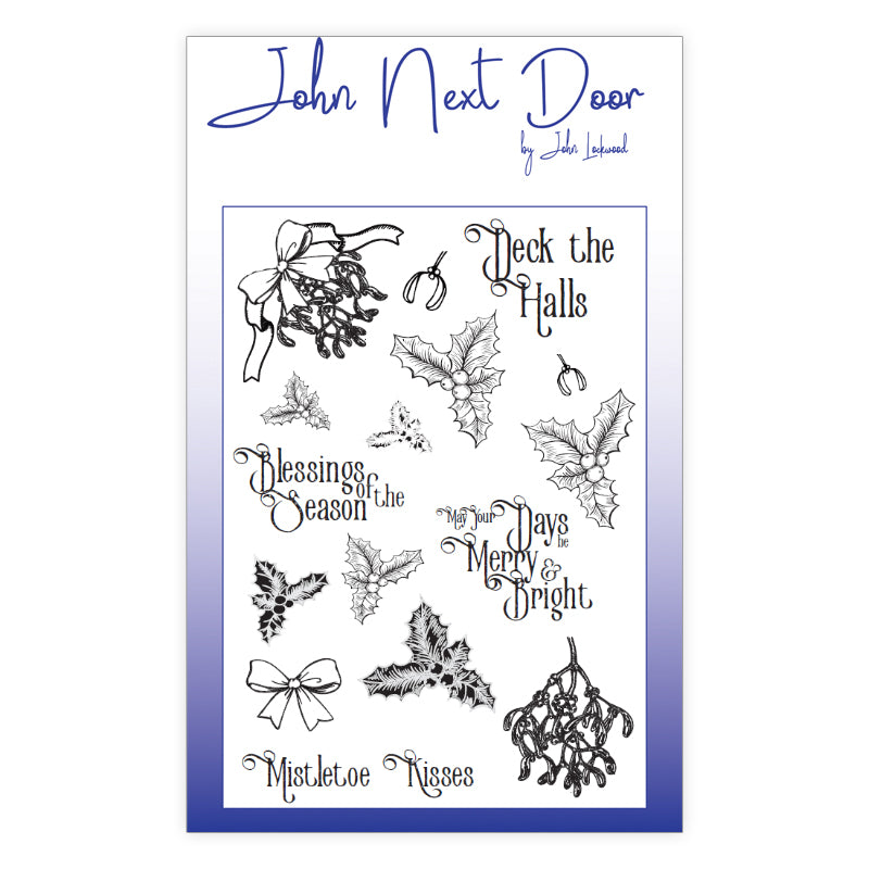John Next Door Clear Stamp - Deck the Halls - JND0024