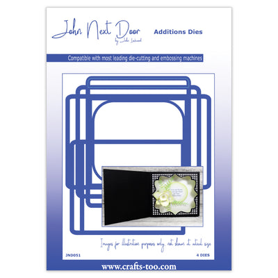 John Next Door Card Die Collection - Square Scene Box (4pcs) - JND051