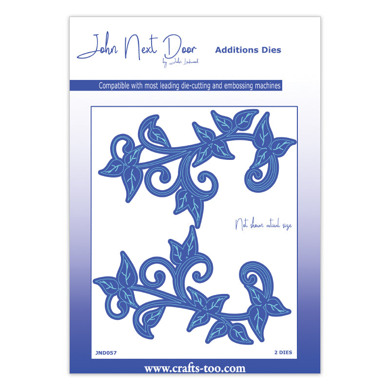 John Next Door Additions Dies - Leafy Flourish (2pcs) - JND057