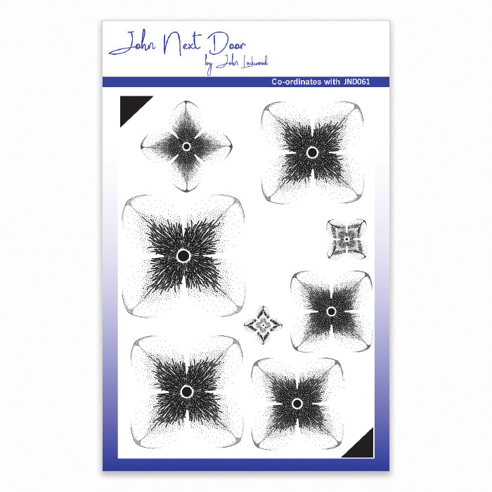 John Next Door Clear Stamp - Shaded Hydrangea - JND075