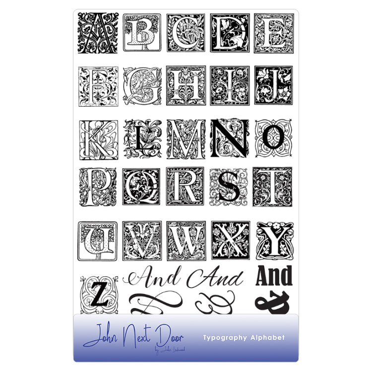 John Next Door Clear Stamp - Typography Alphabet (32pcs) - JND076