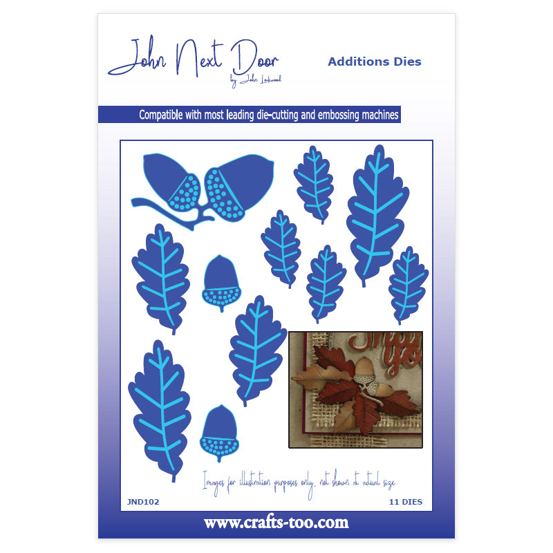 John Next Door Die - Additions Dies - Acorns & Leaves (11pcs) - JND102