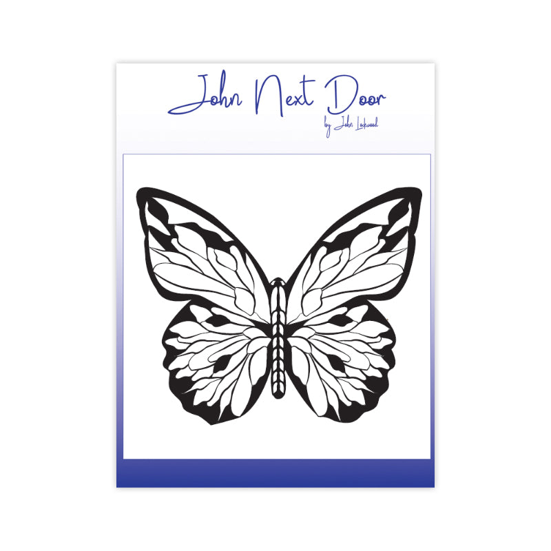 John Next Door Clear Stamp - Bold Butterfly - JND110A
