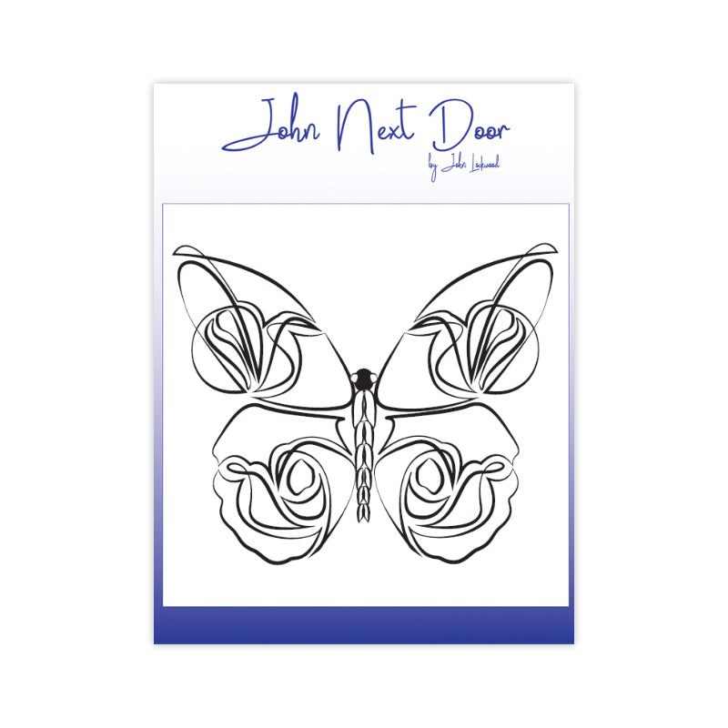John Next Door Clear Stamp - Delicate Butterfly - JND110B