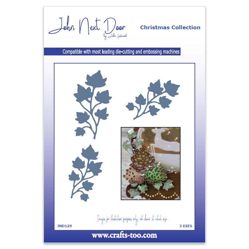 John Next Door Christmas Dies - Mini Ivy (3pcs) - JND129