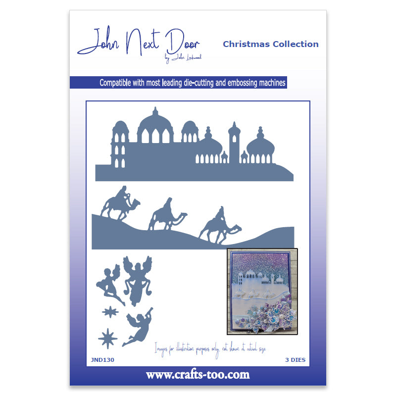 John Next Door Christmas Dies - O Little Town Scenes (3 pcs) - JND130