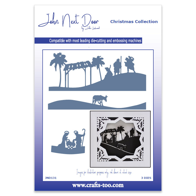 John Next Door Christmas Dies - Nativity Scenes (3 pcs) - JND131