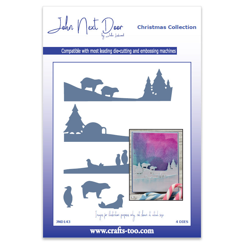 John Next Door Die - Additions Dies - Polar Scenes (4pcs) - JND143