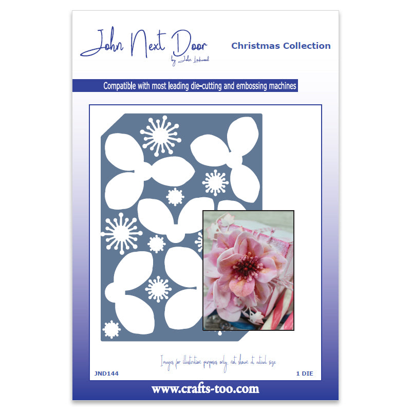 John Next Door Christmas Stamp & Die - Rose Bundle