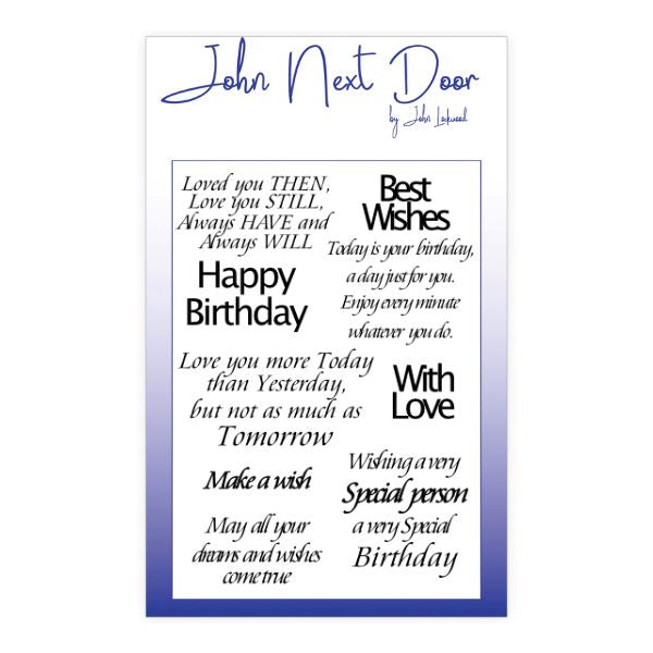 John Lockwood Loving Sentiments Clear Stamp- JND150