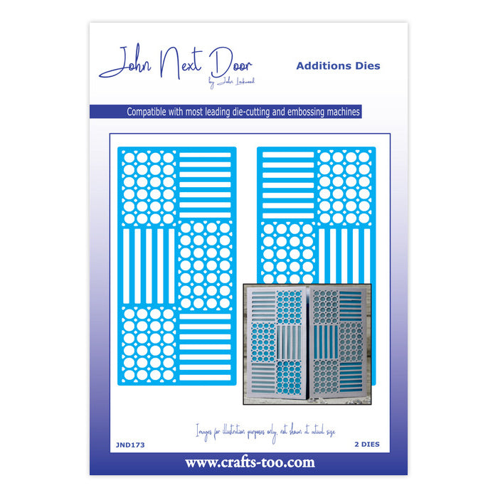 John Next Door Dies - Additions - Haddon Panels Die Set (2pcs) - JND173