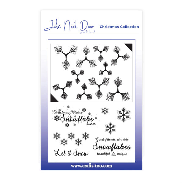 John Next Door Stamps - Snowflower - JND185