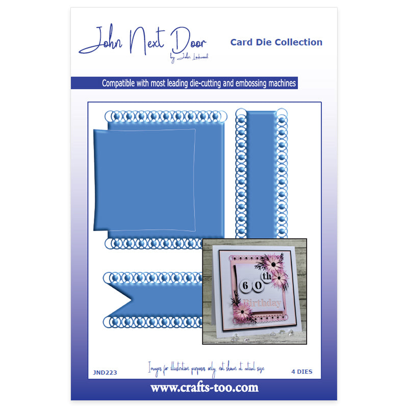 John Next Door Dies - Card Die Collection - Firth Park Tags (4pcs)
