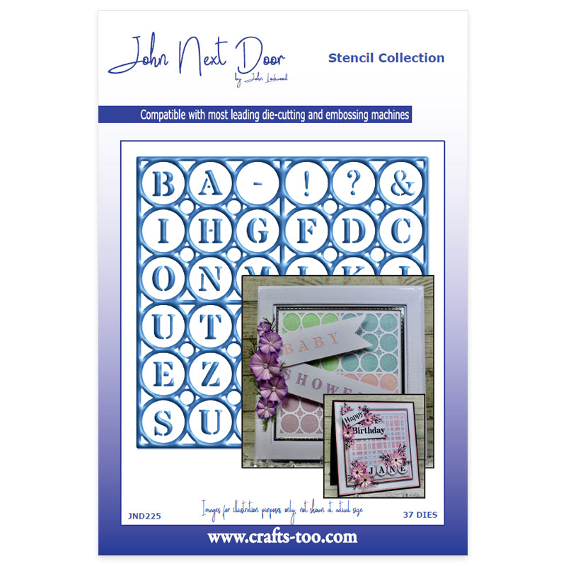 John Next Door Dies - Stencil Collection - Alphabet (37pcs)