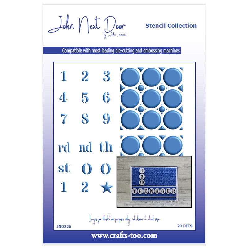 John Next Door Dies - Stencil Collection - Numbers (20pcs)