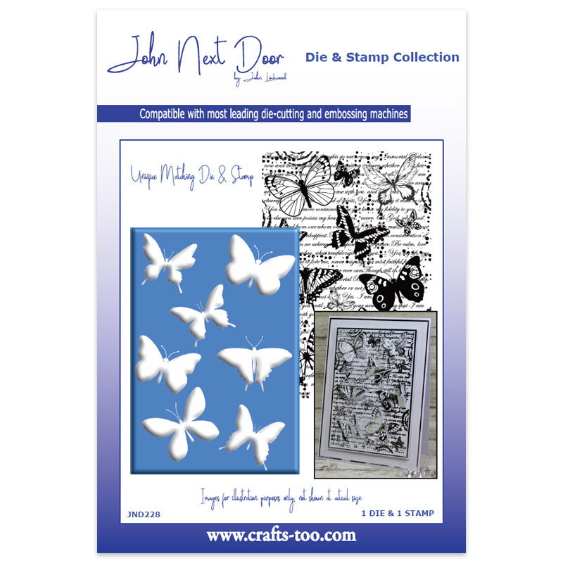 John Next Door Die and Stamp Collection - Butterfly - JND228