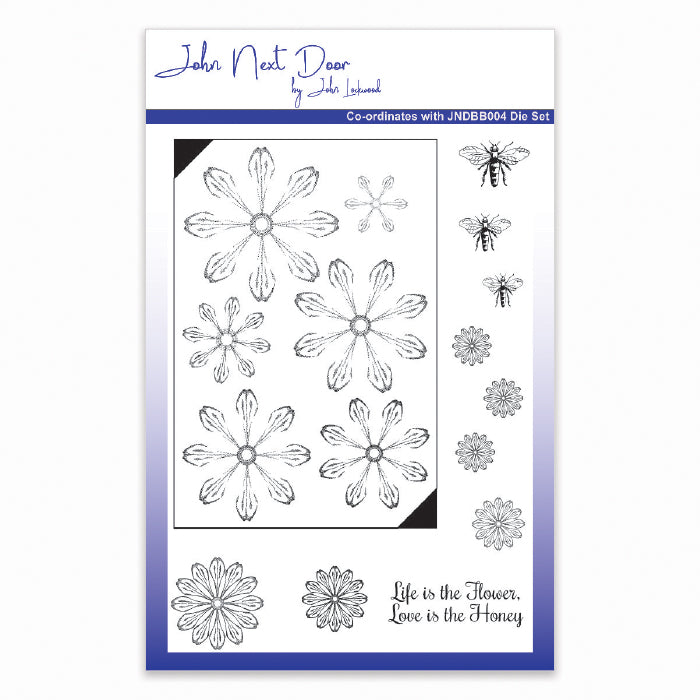 John Next Door Stamps - Bee Balm Flowers - JND50012