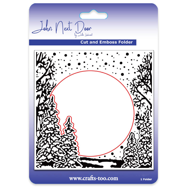 John Next Door Embossing Folder - Fir Trees