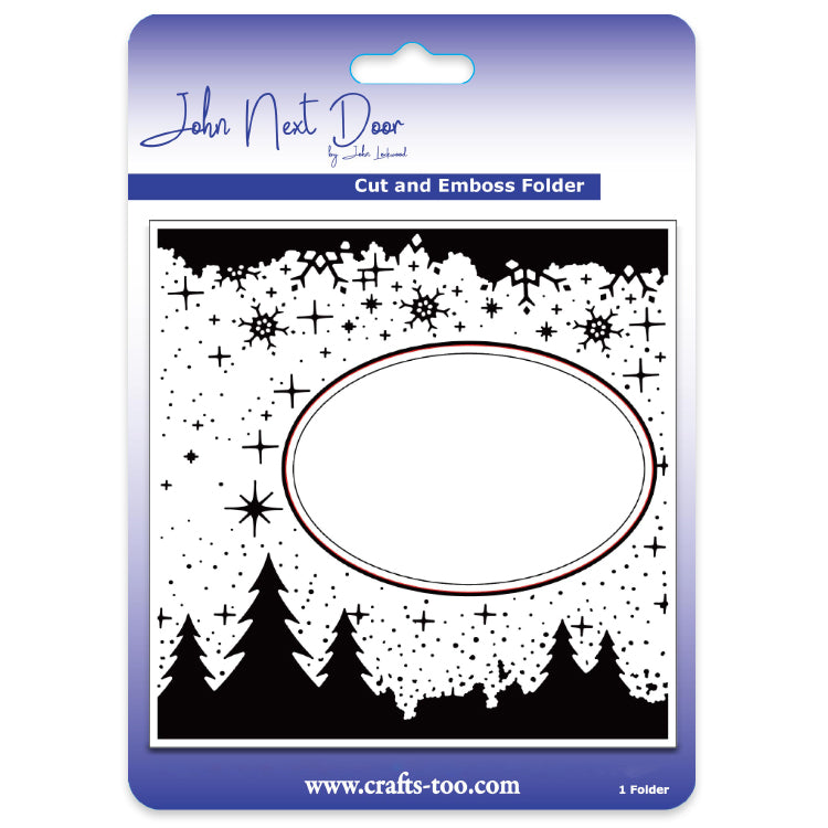 John Next Door Embossing Folder - Woodland Scene